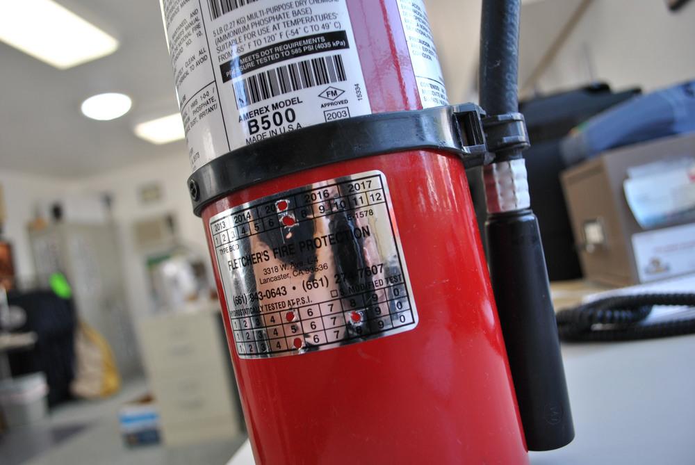 Заверка на пожарогасители