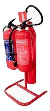 Стойка за пожарогасители - тройна / автономна
