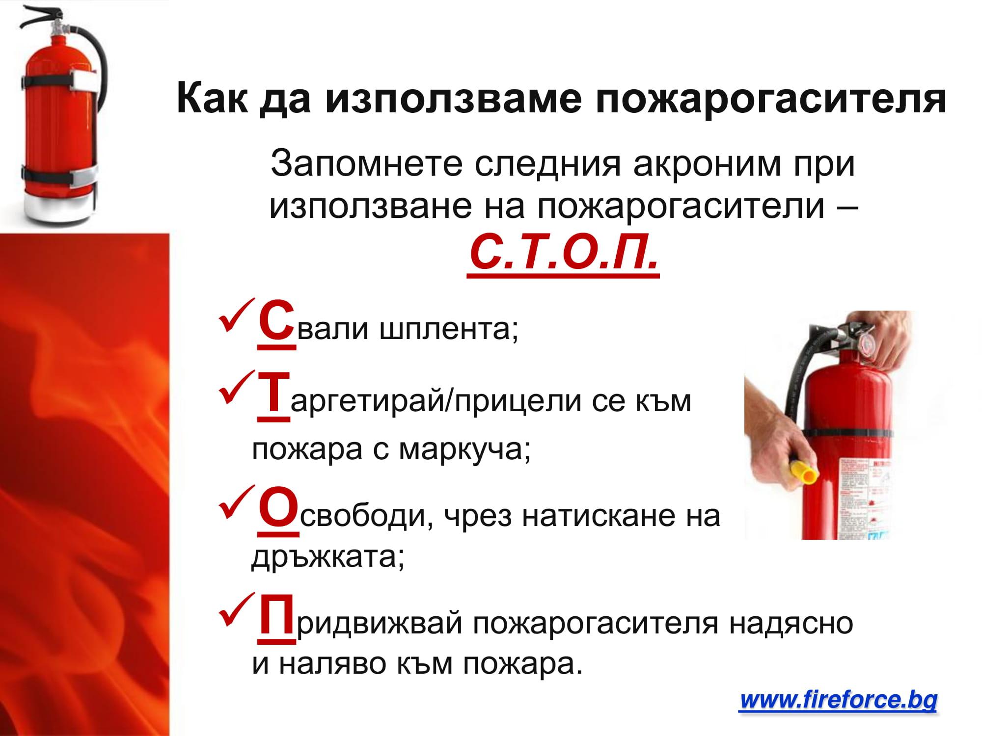 Как се работи с пожарогасител