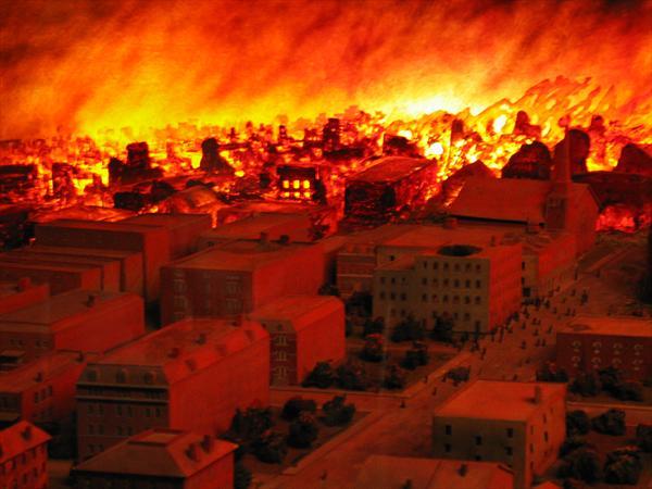 Пожар - Чикаго 1871